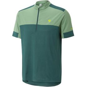 Ziener Cadeem Fietsshirt korte mouwen Heren groen
